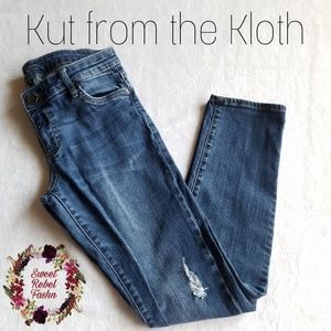 Kut from the Kloth skinny jeans size 4 distressed